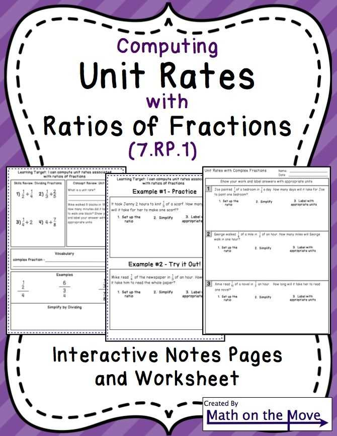 Unit Rate Worksheet 7th Grade together with 219 Best Math Ratios Proportions Images On Pinterest