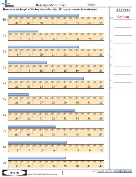Using A Metric Ruler Worksheet Along with Worksheets 43 Unique Measurement Worksheets High Resolution