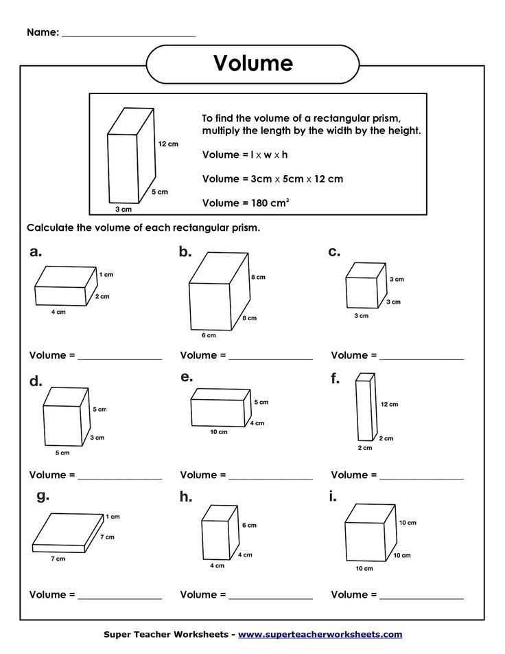 Volume Rectangular Prism Worksheet Answers Along with Volume Of Rectangular Prism Worksheet