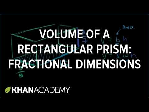 Volume Rectangular Prism Worksheet Answers with Volume Of A Rectangular Prism Fractional Dimensions Video