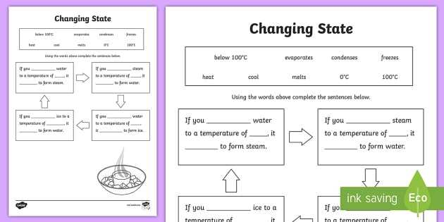 Water Pollution Worksheet Along with Changing States Ice Water Steam Worksheet Changing States