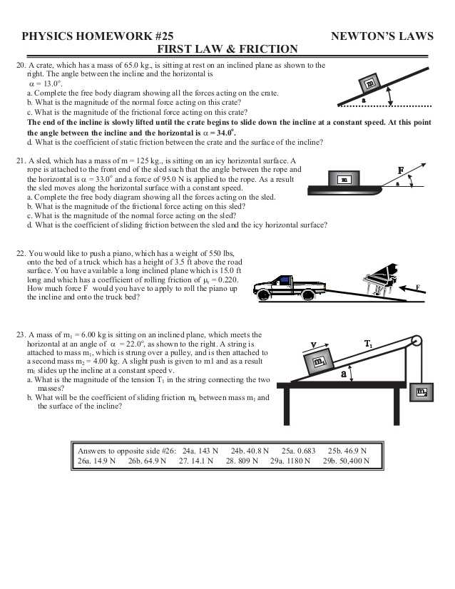 Weight Friction and Equilibrium Worksheet Answers Also Home Worksheets Review
