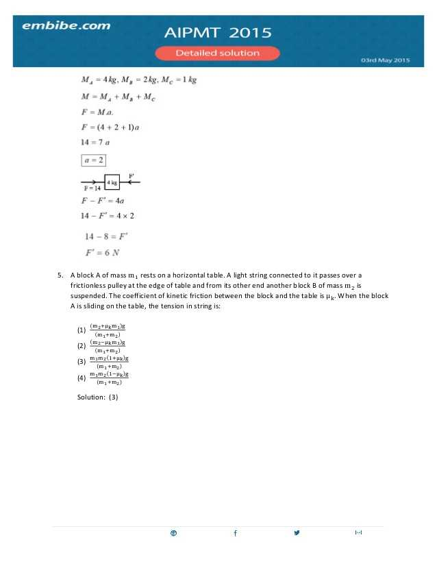 Weight Friction and Equilibrium Worksheet Answers as Well as Aipmt 2015 Answer Key & solutions