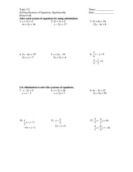 Worksheet 3 Systems Of Equations Substitution and Elimination Answers and Worksheets 49 Awesome solving Systems Equations by Substitution