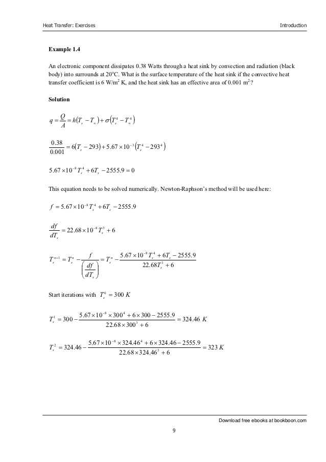 Worksheet Methods Of Heat Transfer with Heat Transfer Exercise Book
