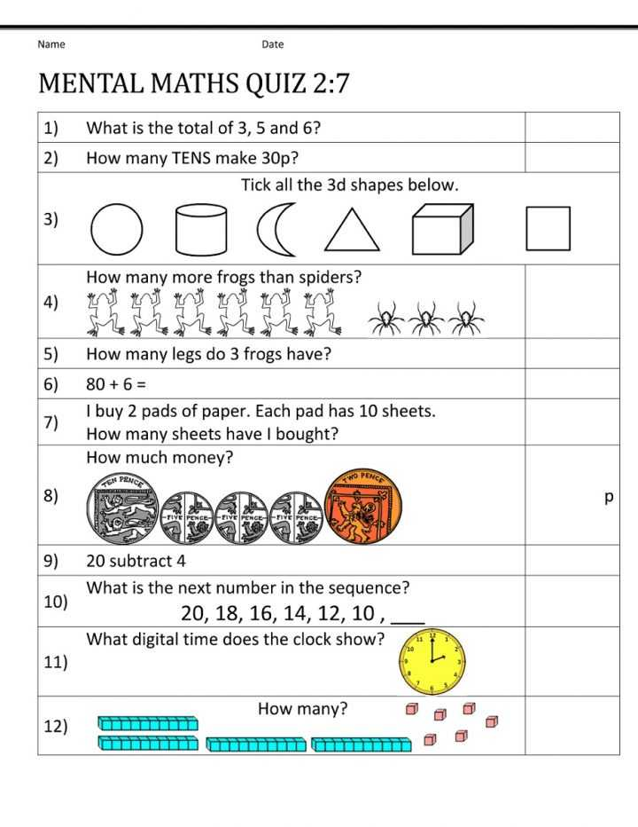 Worksheets for 3 Year Olds and Maths for 12 Year Olds Worksheets Uk Mental Math 4th Grade Regarding