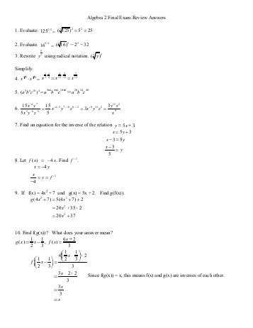Algebra 2 Chapter 7 Review Worksheet Answers as Well as Algebra 2 Chapter 8 Review Answers Wilsonsd
