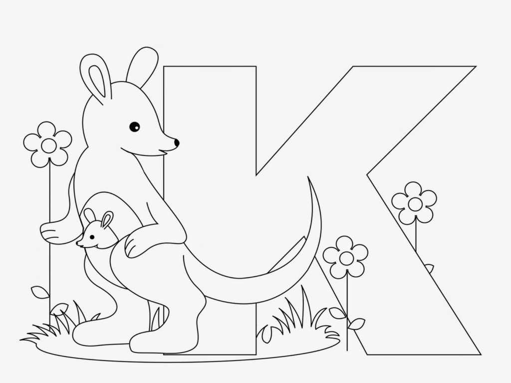 Alphabet Writing Worksheets Along with Coloring Pages Kangaroos whobar