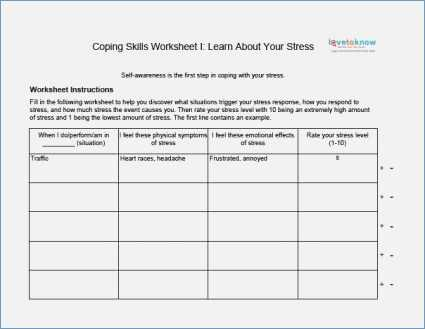 Anger Management Worksheets for Kids Pdf and Coping Skills Worksheets Pdf aslitherair