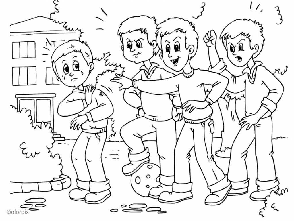 Anti Bullying Worksheets Also Stop Bullying Coloring Page Anti Bully Grig3org