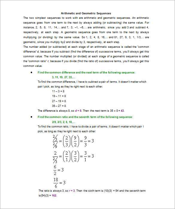 Arithmetic and Geometric Sequences Worksheet Pdf Also Worksheets 49 Re Mendations Arithmetic and Geometric Sequences