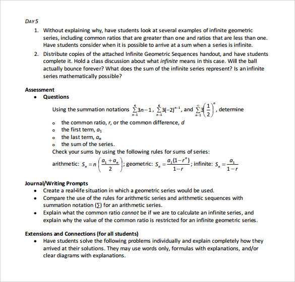 Arithmetic and Geometric Sequences Worksheet Pdf and Arithmetic Series Worksheet Gallery Worksheet Math for Kids