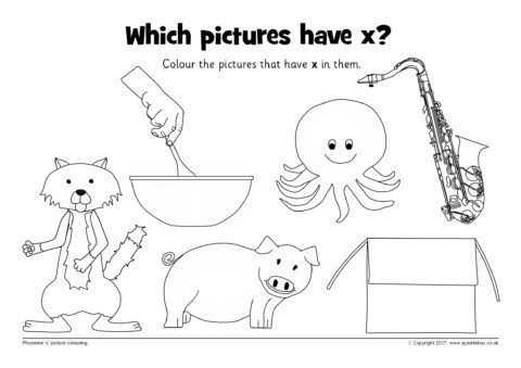 Atp Coloring Worksheet or Phoneme X Picture Colouring Worksheets Sb Sparklebox