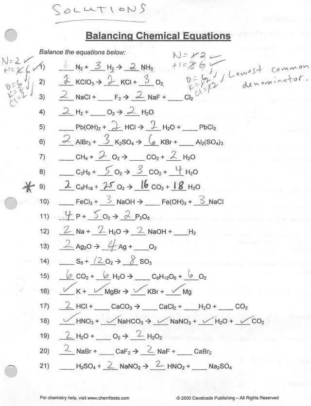 Balancing Chemical Equations Worksheet 1 Along with Balancing Chemical Equations Worksheet Answers 1 25 Balancing