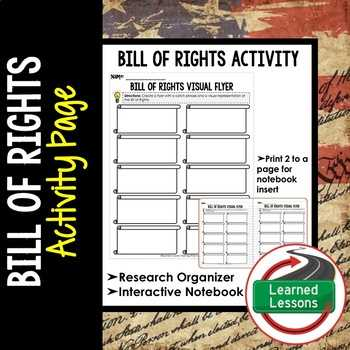 Bill Of Rights Scenario Worksheet Answers Along with Bill Rights Graphic organizer Teaching Resources