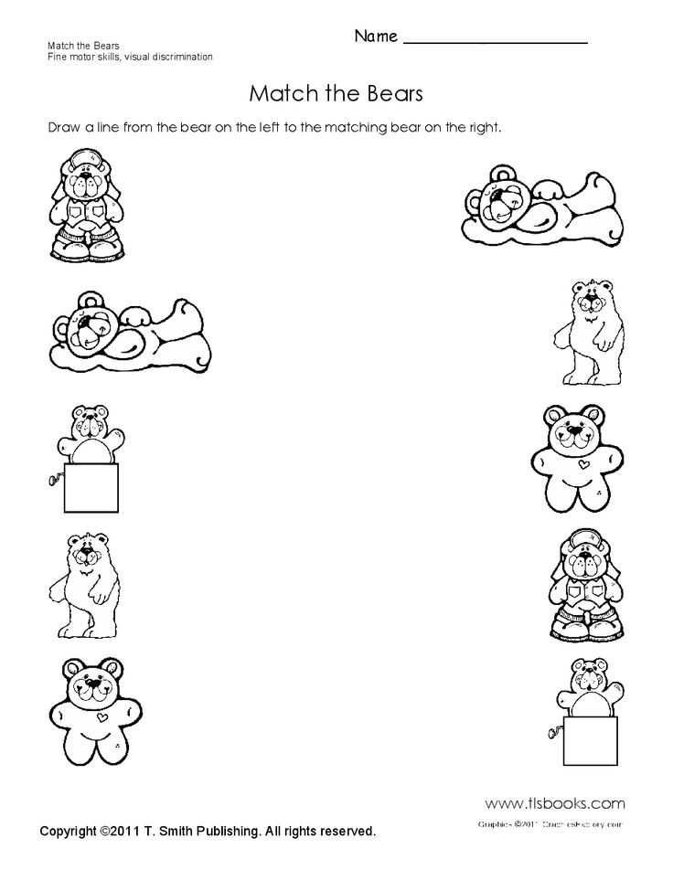 Brown Worksheets for Preschool as Well as 143 Best Bears theme Images On Pinterest