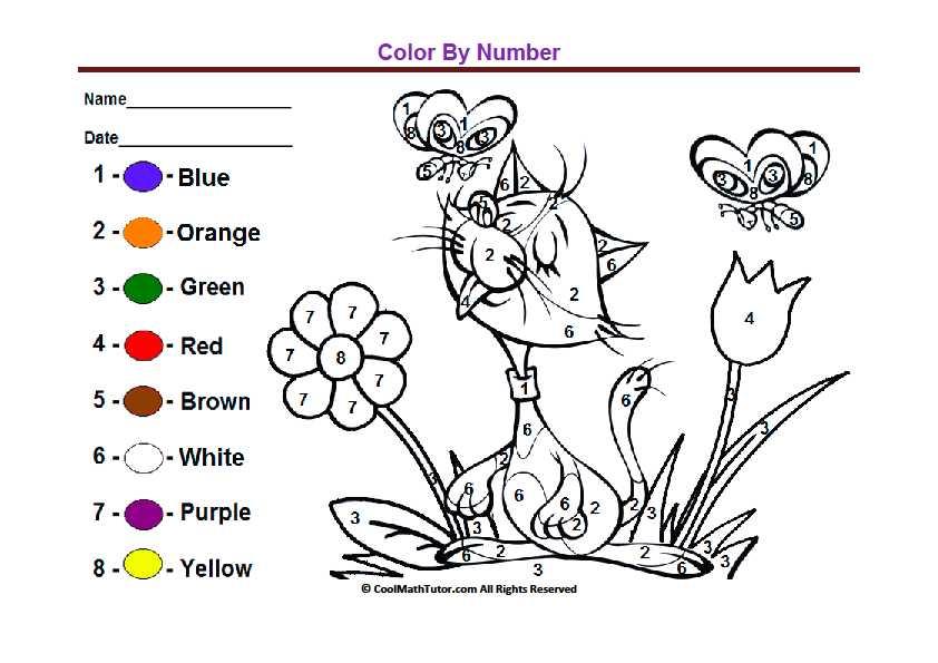 Brown Worksheets for Preschool as Well as Preschool Color by Number Printable Worksheet