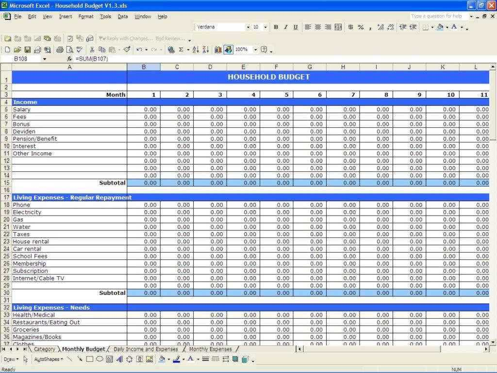 Budget Worksheet Excel Also Business Monthly Bud Worksheet Excel and Excel Spreadshee