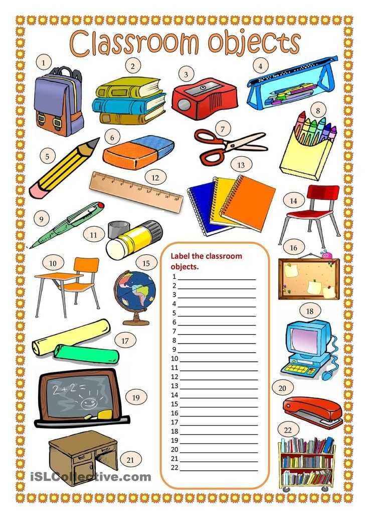 Classroom Objects In Spanish Worksheet Free with 28 Best Classroom Objects Images On Pinterest