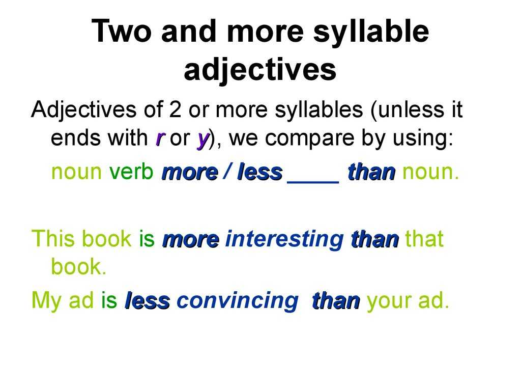 Comparative and Superlative Adjectives Worksheet and Adjectives In English