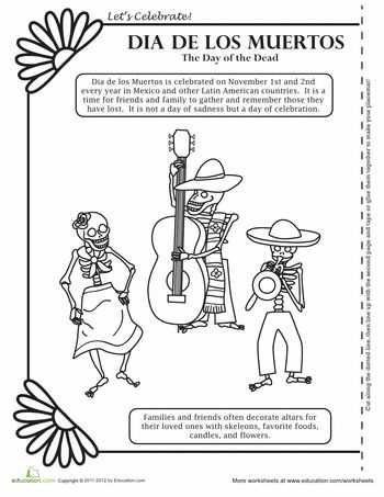 Dia De Los Muertos Worksheet Along with 240 Best Dia De Los Muertos Images On Pinterest
