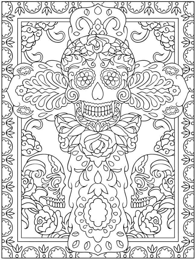 Dia De Los Muertos Worksheet as Well as 591 Best Skull Coloring Dia De Los Muertos Images On Pinterest