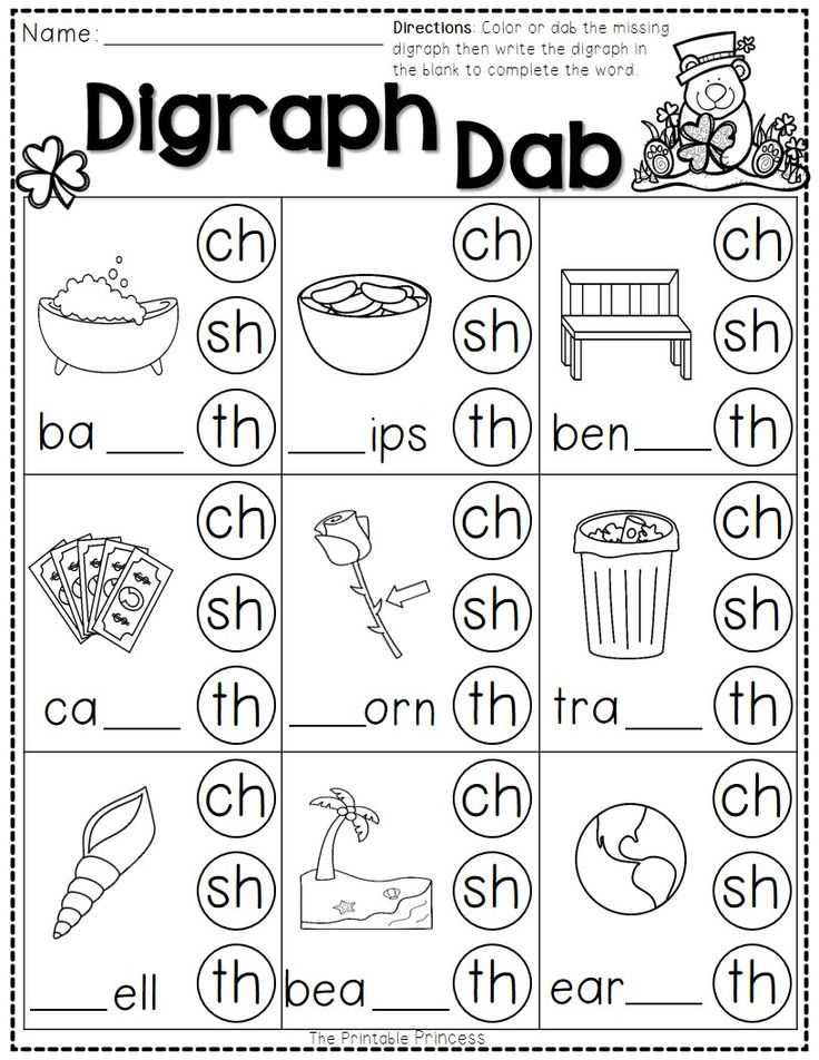 Digraphs Worksheets Free Printables with Classy Phonic Worksheets Free Printables About Sh Ch Th Worksheets