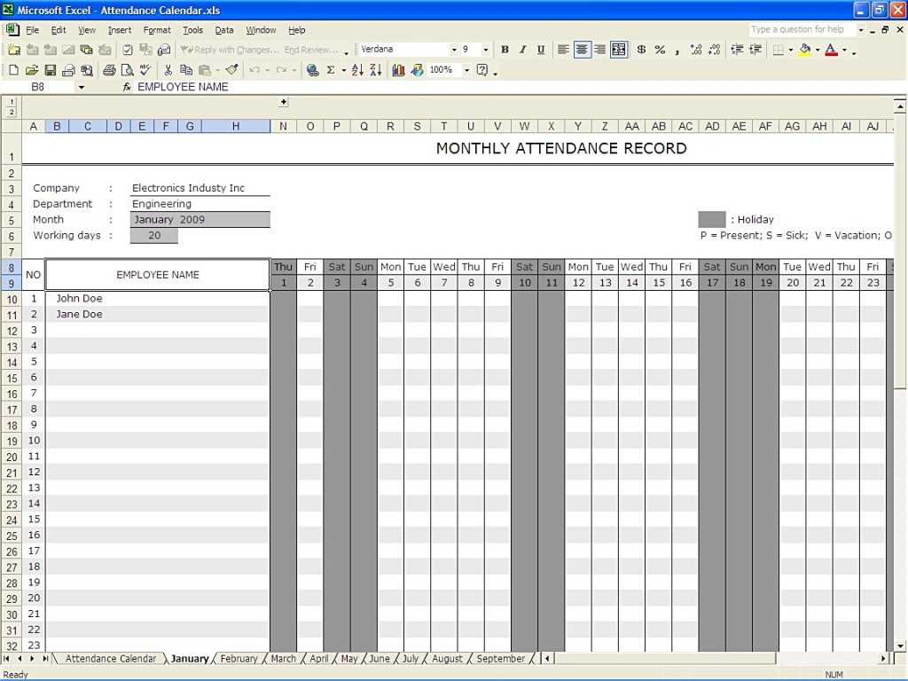 Employee Performance Improvement Plan Worksheet together with attendance Calendar Excel Templates Record Mughals