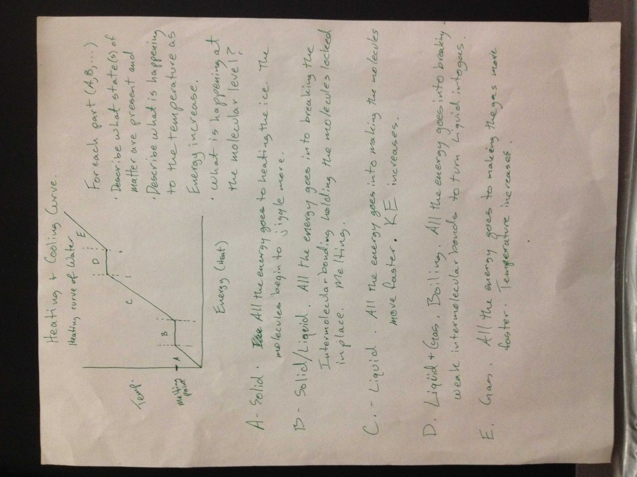 Energy Note Taking Worksheet Answers as Well as Phase Change Notes Jpg