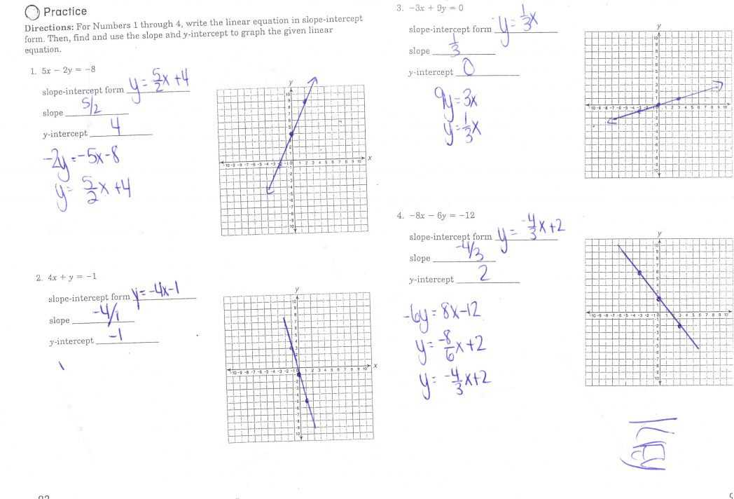 Finding X and Y Intercepts Worksheet or Worksheets 48 Awesome Slope Intercept form Worksheet Hi Res