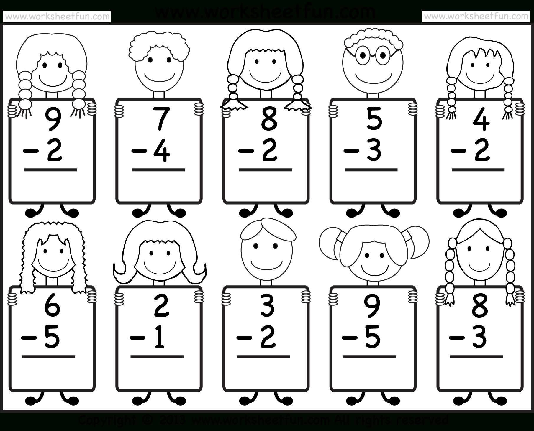 Free Addition Worksheets for Kindergarten or Free Printable Kindergarten Math Worksheets