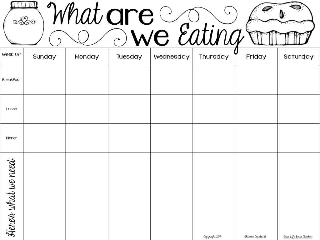 Free Download Monthly Budget Worksheet Along with Monthly Meal Chart Template