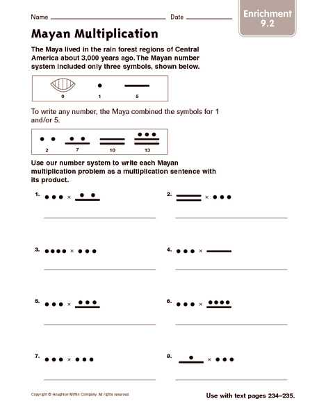 Free Math Worksheets for 7th Grade with Answers or Mayan Math Worksheet Answers