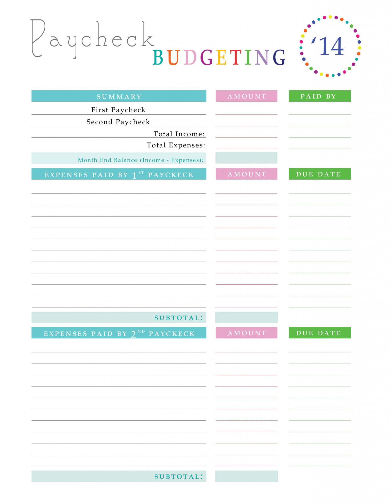 Free Printable Budget Binder Worksheets as Well as Paying Off Debt Worksheets Pinterest