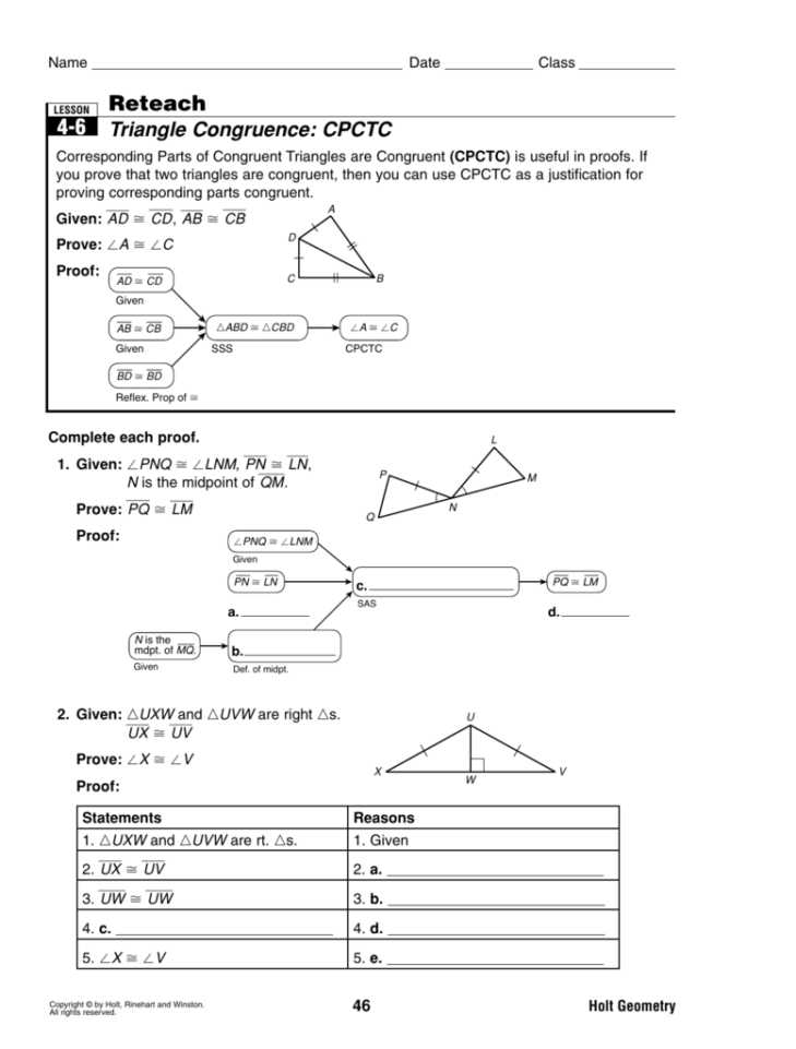 Geometry Cpctc Worksheet Answers Key and Cpctc Worksheet Kidz Activities