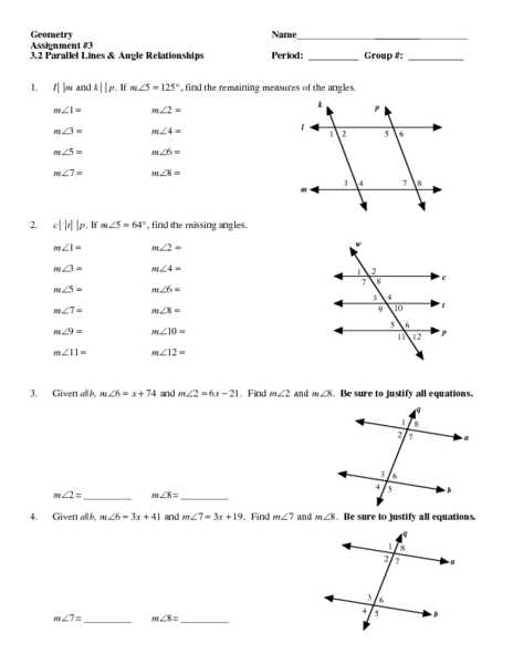 Geometry Parallel Lines Worksheet Answers or Inspirational Parallel Lines and Transversals Worksheet Beautiful
