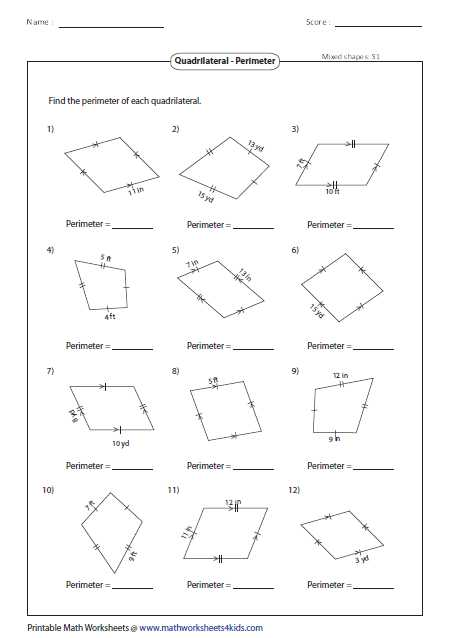 Geometry Parallelogram Worksheet Along with Geometry Properties Parallelograms Worksheet the Best Worksheets
