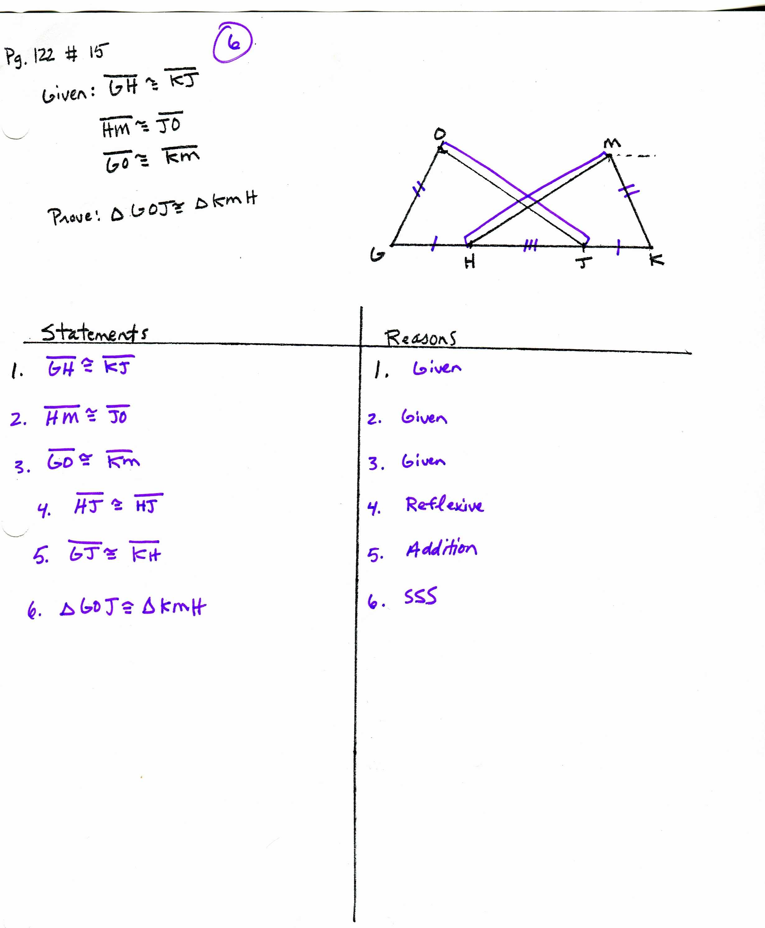 Geometry Worksheet Congruent Triangles Sss and Sas Answers Also Triangle Congruence Proofs Worksheet Image Collections Worksheet