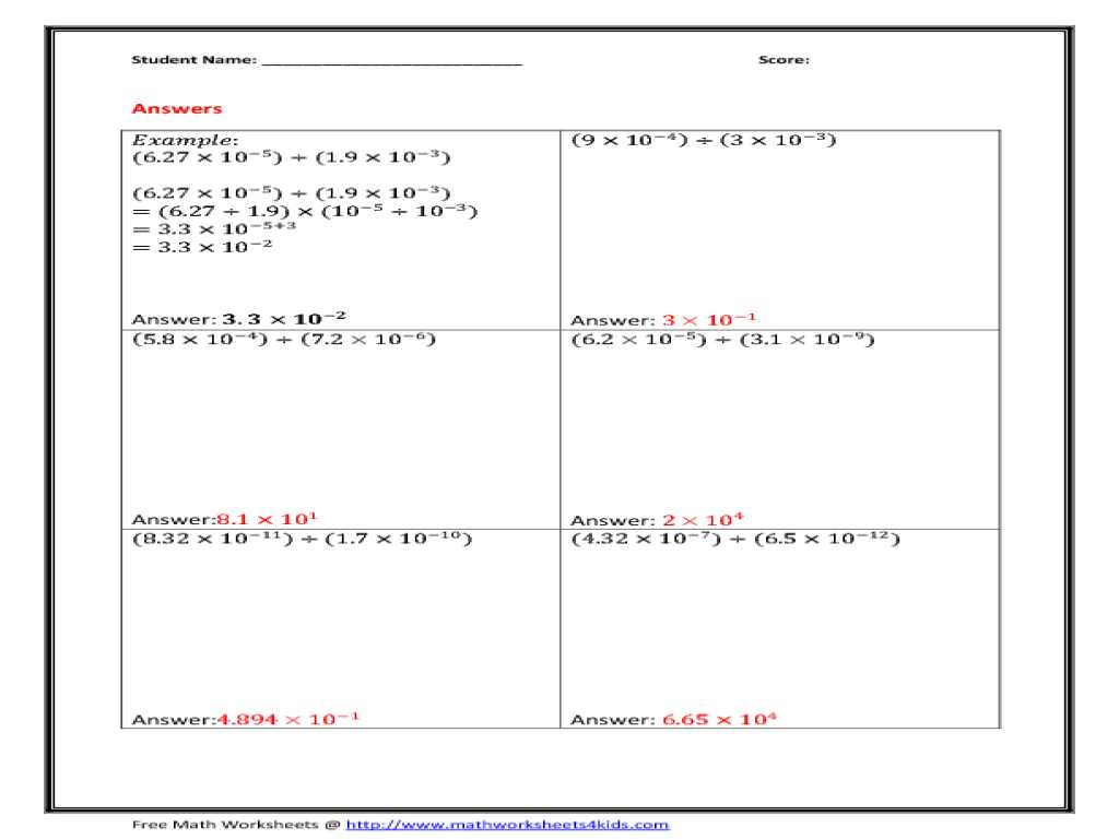 Graphing and Data Analysis Worksheet Answers together with Scientific Notation Problems Worksheet Super Teacher Works
