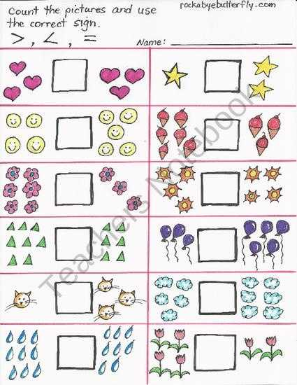 Greater Than Less Than Worksheets for Kindergarten with 57 Best Math Greater Than Less Than Images On Pinterest