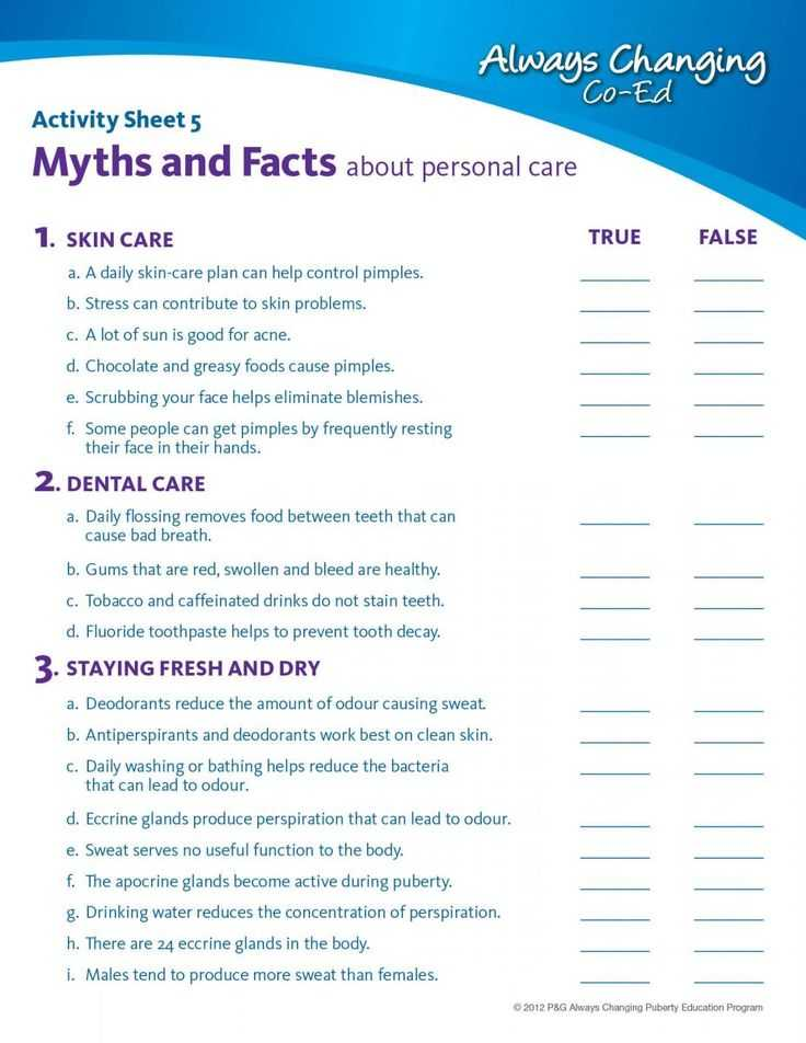 High School Health Worksheets Pdf together with 8 Best Personal Hygiene Images On Pinterest