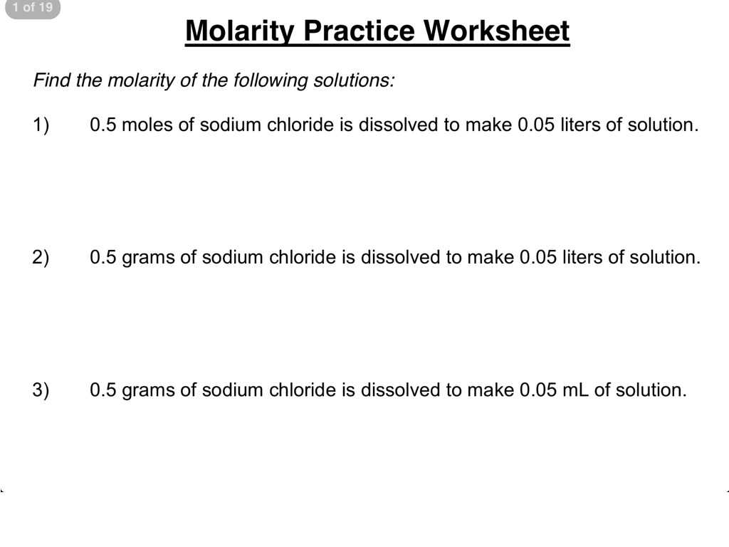 Inferences Worksheet 2 and Molarity and Molality Worksheet Image Collections Workshee