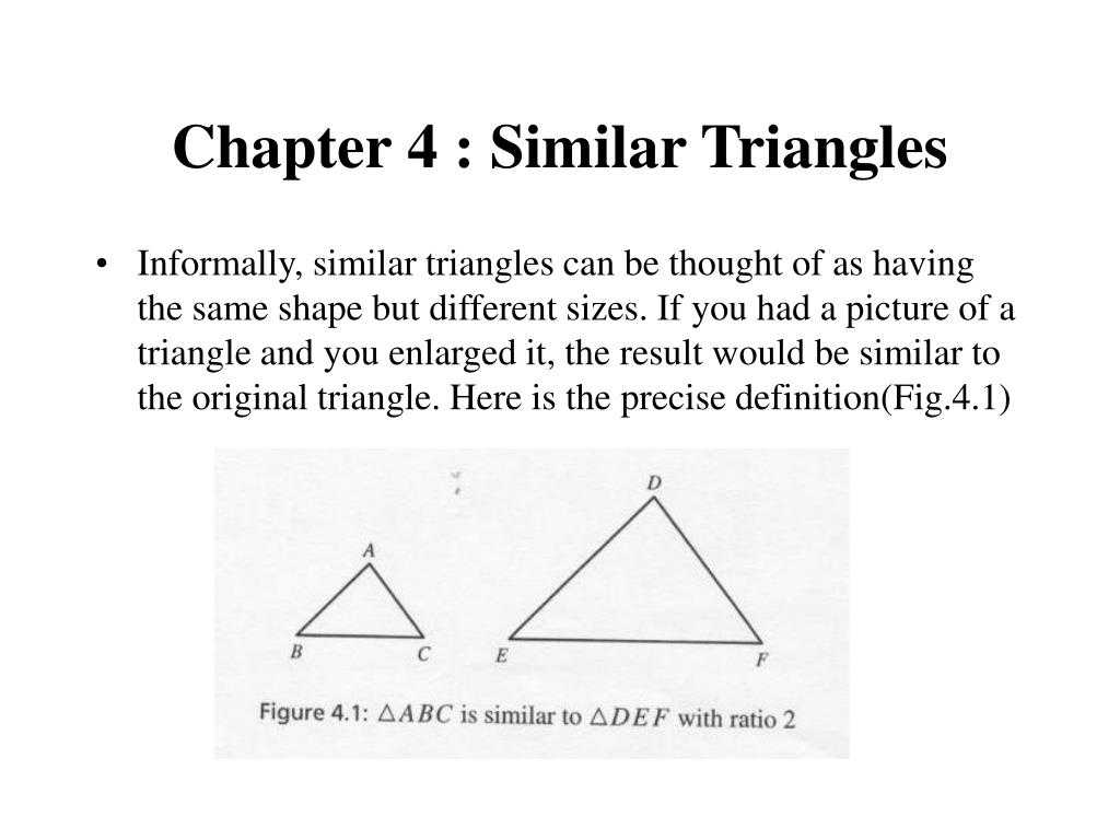 Interior Angles Of A Triangle Worksheet Pdf as Well as Ppt Chapter 4 Similar Triangles Powerpoint Presentation