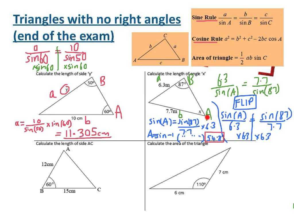 Interior Angles Of A Triangle Worksheet Pdf or Trigonometry Triangles Sides Angle area