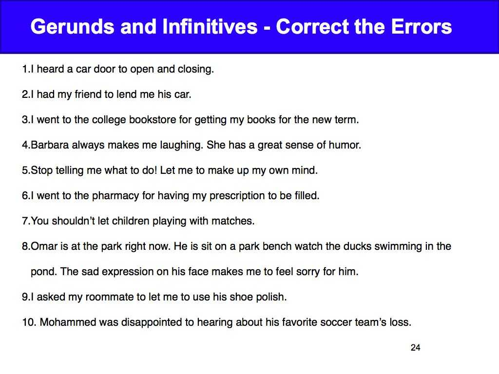 Ir A Infinitive Worksheet Answers together with Week 3 Gerunds and Infinitives David Parkerampaposs English Cla