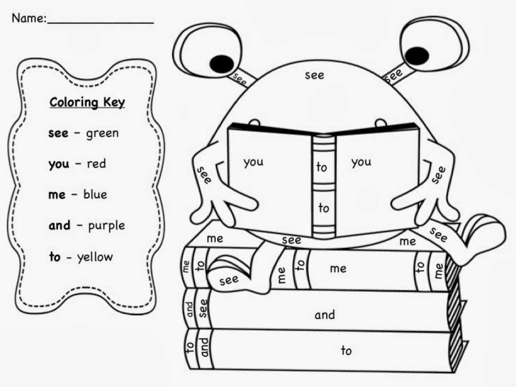 Learning Colors Worksheets or Sight Word Coloring Pages Coloringsuite