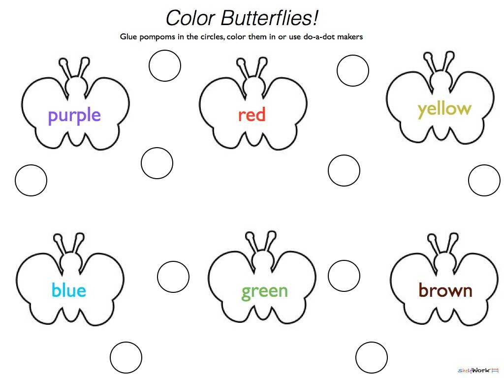 Learning Colors Worksheets with Coloring Pages Printable Various Choices toddler Printables