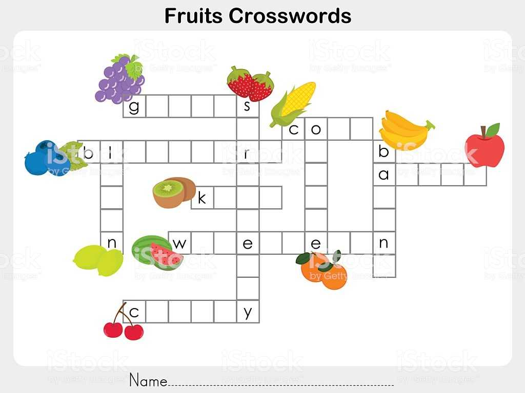 Learning Spanish Worksheets as Well as Fruits Crosswords Worksheet for Education Stock Vector Art Amp