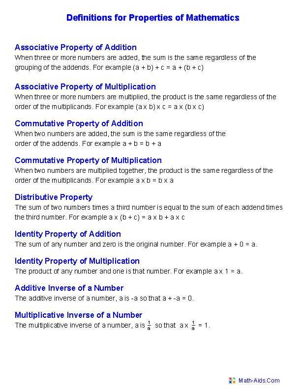 Math Properties Worksheet Pdf Also 11 Best Math Images On Pinterest