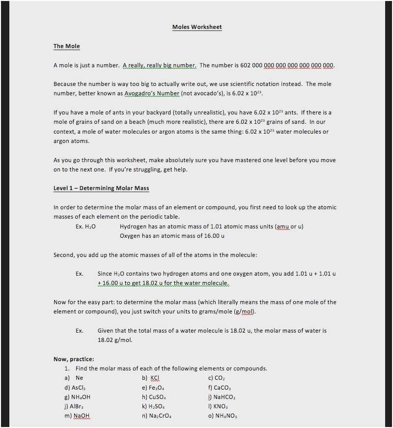 Mole Calculation Worksheet or New Mole Calculation Worksheet Beautiful Moles and Mass Worksheet
